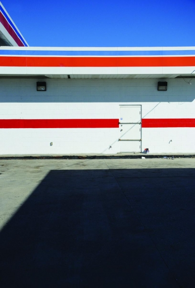 Zoe Strauss - Red, White, and Blue Gas Station, 2001-2008  | Bruce Silverstein Gallery
