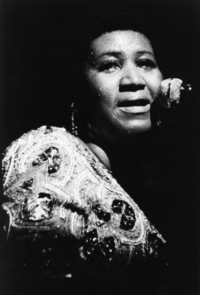 Chester Higgins -  Aretha Franklin at the Apollo, Harlem, New York, 1971