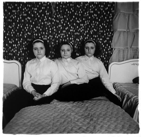 Diane Arbus,Triplets in their bedroom, N.J., 1963 | Bruce Silverstein Gallery