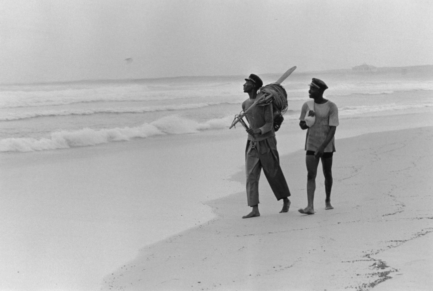 Chester Higgins -  Fishing Buddies, Yoff, Senegal, 1973