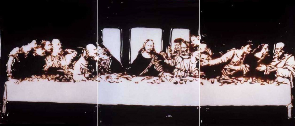 Vik Muniz, 	Milan, the Last Supper (from Pictures of Chocolate), 1998-1999