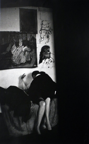 W. Eugene Smith - The Loft From Inside In (Couple on Couch), c. 1957-68  | Bruce Silverstein Gallery