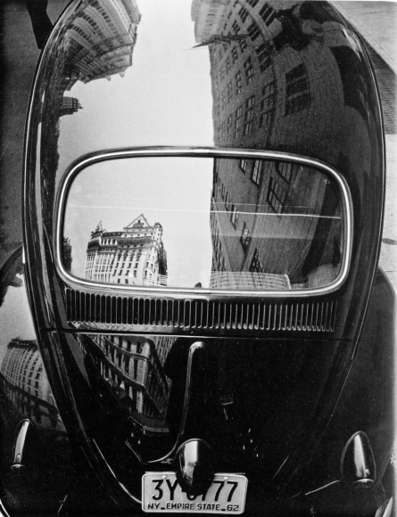 Frank Paulin - Volkswagen Reflection, New York City, 1962 Gelatin silver print, printed c. 1962 | Bruce Silverstein Gallery