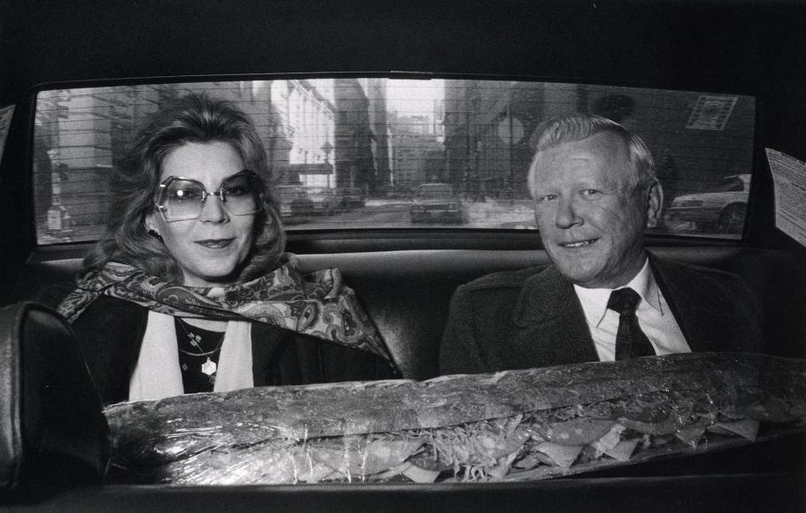 Ryan Weideman- Couple with Submarine, 1982 Gelatin silver print   Bruce Silverstein Gallery