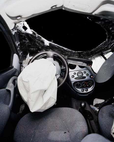 Car Crash Studies, Interiors #10, 2009 Chromogenic print. 19 5/8 x 24 3/4 inches