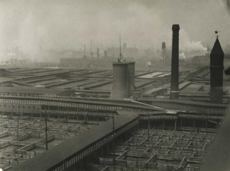 E. O. Hoppé - Stockyards, Chicago, Illinois, 1926   Bruce Silverstein Gallery