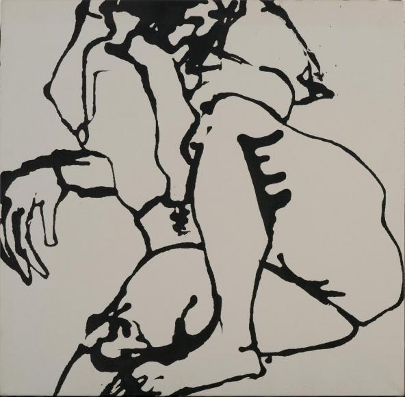 David Smith (1906-1965)Untitled (Nude), 1964 Enamel on linen 25 1/4 x 25 3/4 in. (64.1 x 65.4 cm)