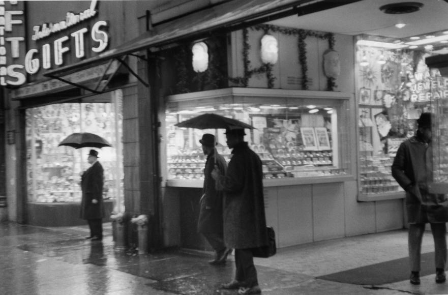 Chester Higgins -  Rainy Times Square, Manhattan, 1969