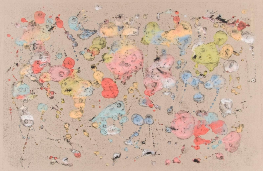 Frederick Sommer - Untitled, c. 1947-52 Glue color drawing on paper | Bruce Silverstein Gallery