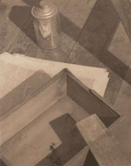 Paul Outerbridge - Wooden Box with Saw, 1922 | Bruce Silverstein Gallery