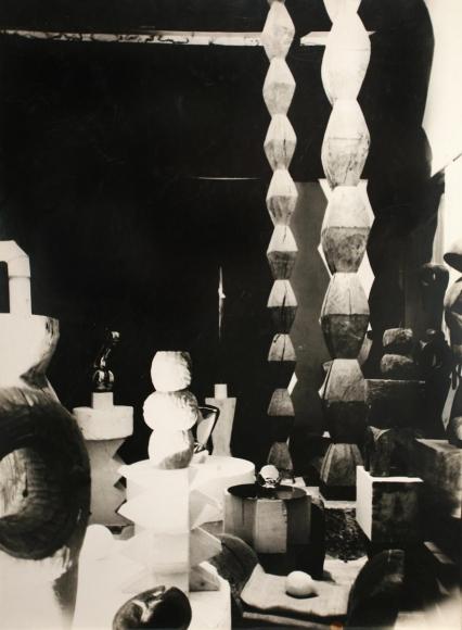Constantin Brâncuşi - Overall View of the Studio, c. 1929-30  | Bruce Silverstein Gallery