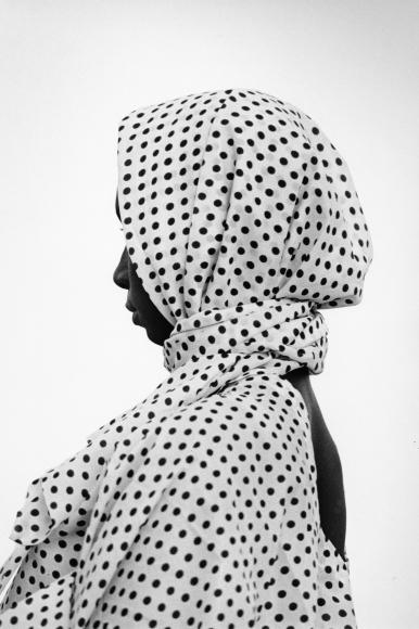 Chester Higgins -  A woman in Dakar, Senegal, fashion capital of Africa, 1974