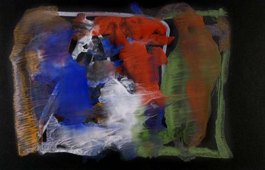 Untitled, c. 1950, Glue color drawing on paper