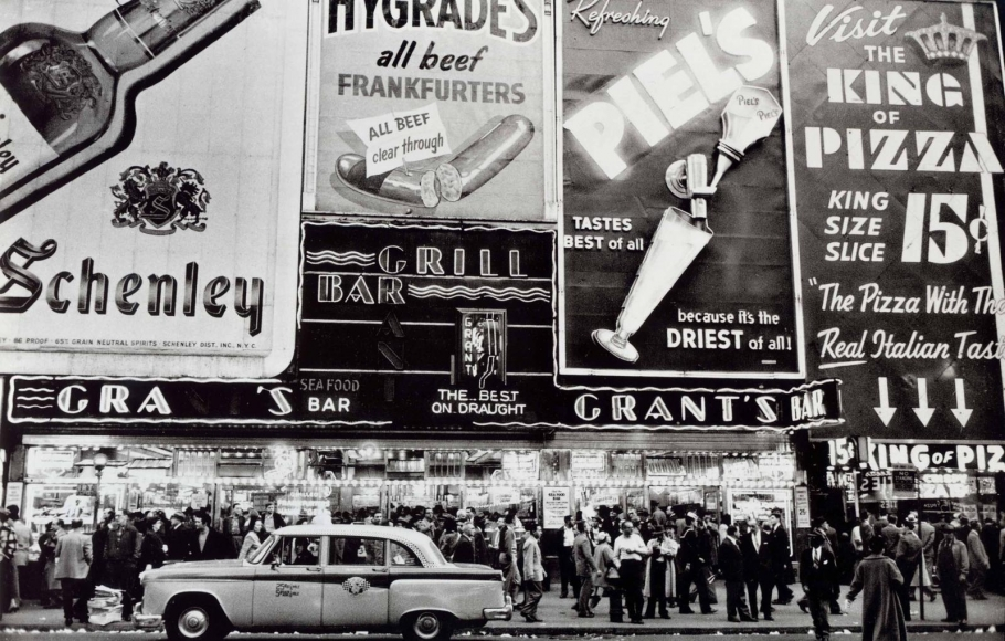 Grant's Bar, New York, 1956, 	Gelatin silver print