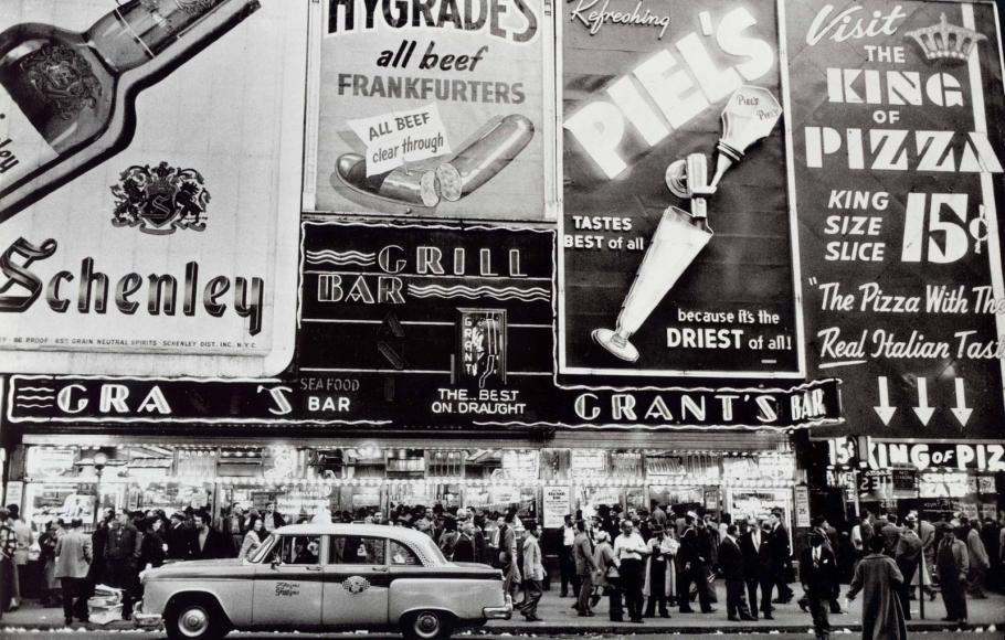 Frank Paulin - Grant's Bar, New York, 1956 Gelatin silver print   Bruce Silverstein Gallery