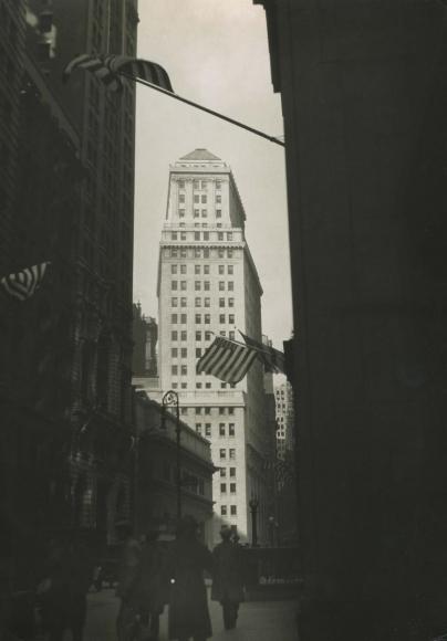 E. O. Hoppé - New York City, Wall Street on Armistice Day, 1925    Bruce Silverstein Gallery