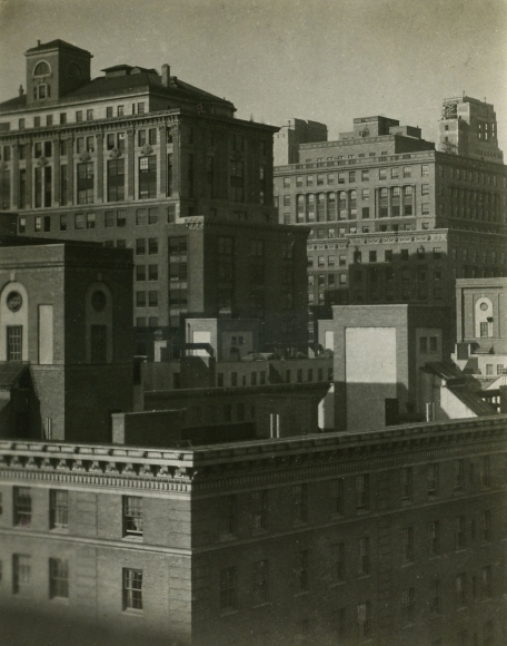 From the Shelton Hotel, 1921 	Gelatin silver print, printed c. 1921 	4 x 3 inches