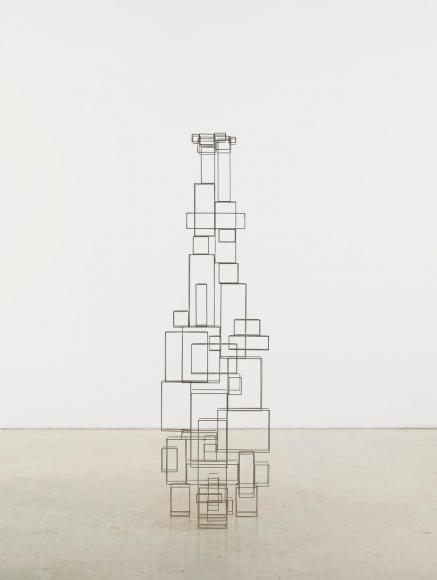 Antony Gormley (b. 1950)Tense, 2011 3mm square stainless steel bar 67 x 19 1/4 x 19 inches (170 x 49 x 48 cm)