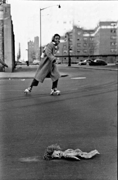Frank Paulin - Found Doll, New York City, 1956 Gelatin silver print mounted to board, printed c. 1956 | Bruce Silverstein Gallery