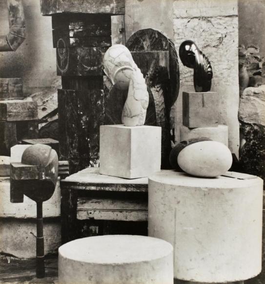 Constantin Brâncuşi - View of the Studio: Mademoiselle Pogany II, c. 1920 | Bruce Silverstein Gallery