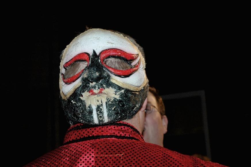 Zoe Strauss - Mask on Back of Head Talking, 2001-2008  | Bruce Silverstein Gallery