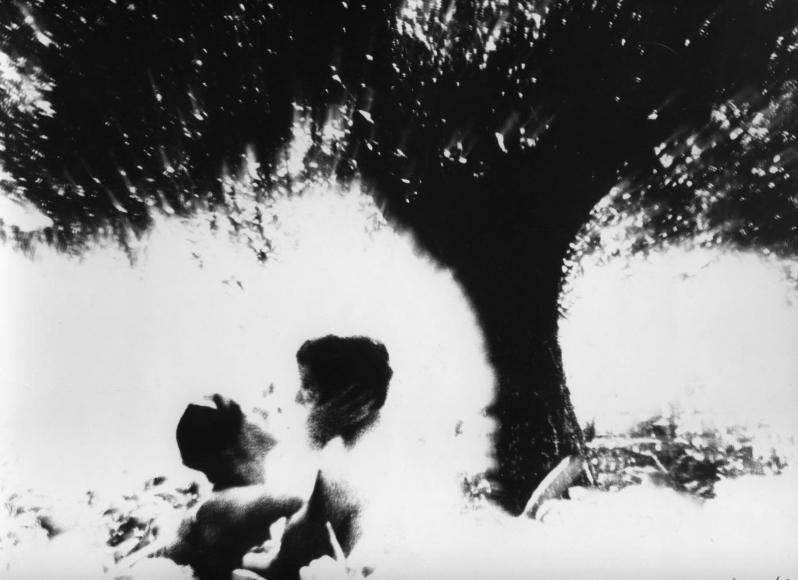 Un uomo, una donna, un amore, 1960 (A man, a woman, a love) Gelatin silver print 9 3/8 x 12 1/2 inches