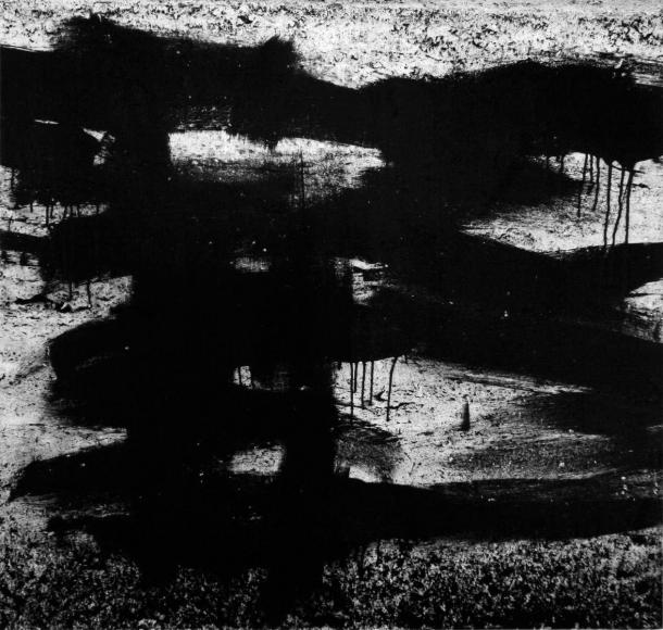Aaron Siskind Rome 69, Homage to Franz Kline, 1973 Gelatin silver print, printed c.1973 20 x 16 inches
