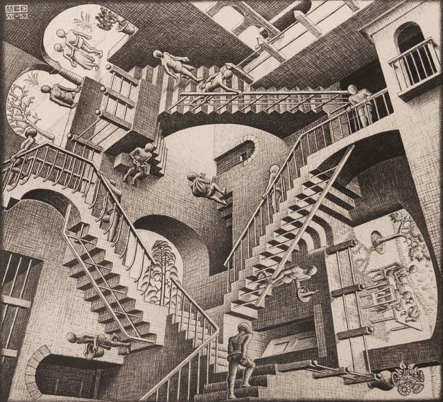 M.C. Escher,  Relativity, 1953 | Bruce Silverstein Gallery 2021