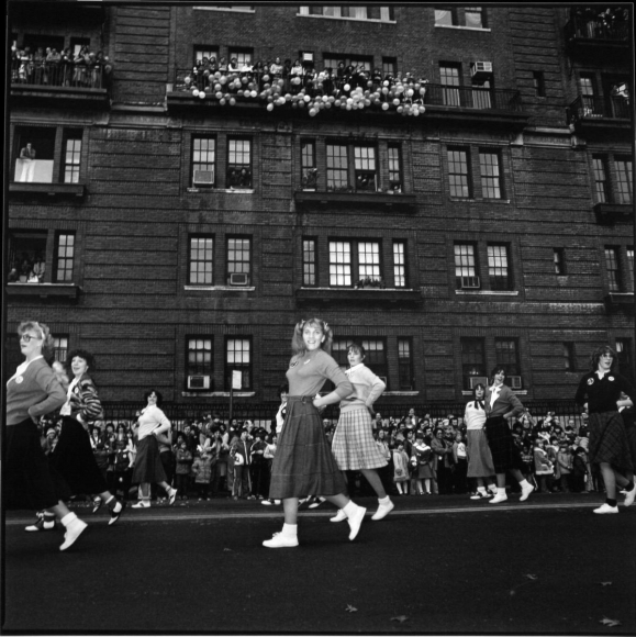 Macy's Parade, New York, 1977 	Gelatin silver print, printed c. 1977, 	19 3/4 x 15 7/8 inches