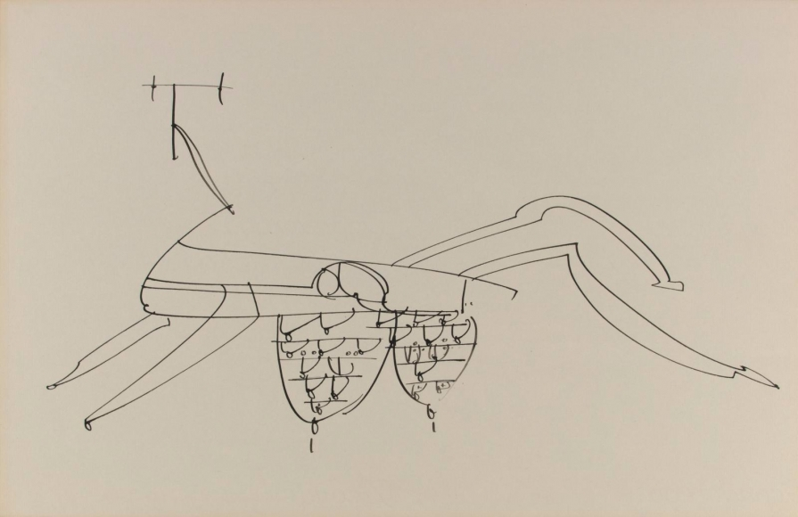Frederick Sommer - Untitled, n.d. Pen and ink drawing on paper | Bruce Silverstein Gallery