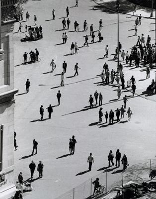 André Kertész - Birds Eye View, Washington Square Park, September 25, 1969, 1969 Gelatin silver print, printed c. 1969 ; Bruce Silverstein Gallery