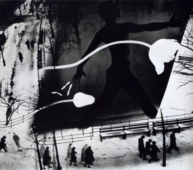 Barbara Morgan - Spring on Madison Square, 1938 Gelatin silver print, printed later | Bruce Silverstein Gallery