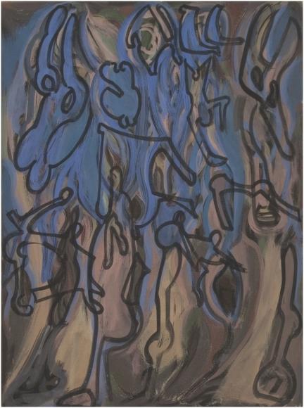 Untitled, 1946, Glue tempera on canvas