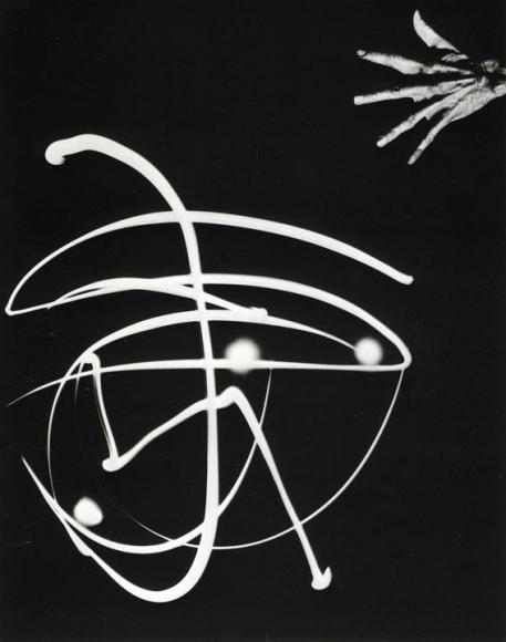 Barbara Morgan - Pure Energy and Neurotic Man, 1941-42 Gelatin silver print ; Bruce Silverstein Gallery