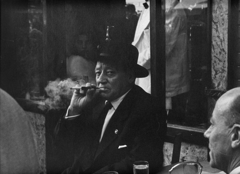 Man Smoking, Spain, 1960 	Gelatin silver print, printed c. 1960 	11 x 14 inches