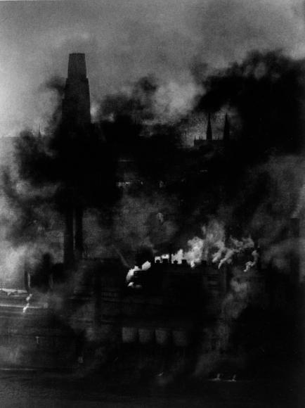 W. Eugene Smith - Pittsburgh, Smoky City, Steel Plant, c. 1955-56  | Bruce Silverstein Gallery
