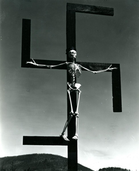 Paul Strand, 	Skeleton/Swastika, Connecticut, 1939-1940
