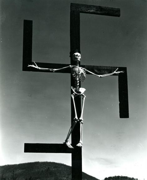 Paul Strand -  Skeleton/Swastika, Connecticut, 1939-1940  | Bruce Silverstein Gallery