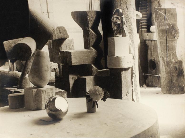 Constantin Brâncuşi - View of the Studio: Mademoiselle Pogany II with Flower, c. 1923 | Bruce Silverstein Gallery