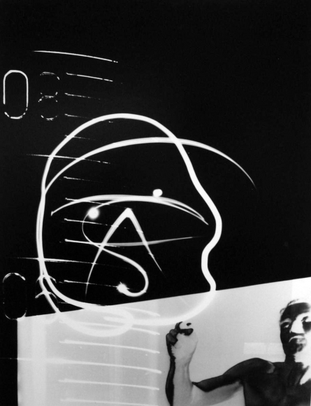 Barbara Morgan - Artificial Life from the Laboratory, 1965 Photogram, printed c. 1965 | Bruce Silverstein Gallery