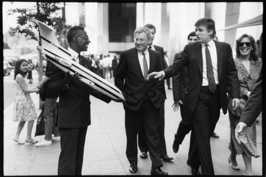 Chance Encounter: Donald Trump, 1989, Gelatin silver print, printed c. 1989