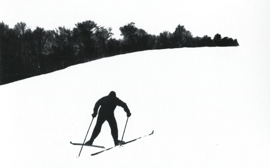 Untitled (Skier on Hill), 1953 Gelatin silver print, printed c. 1953 11 x 7 inches