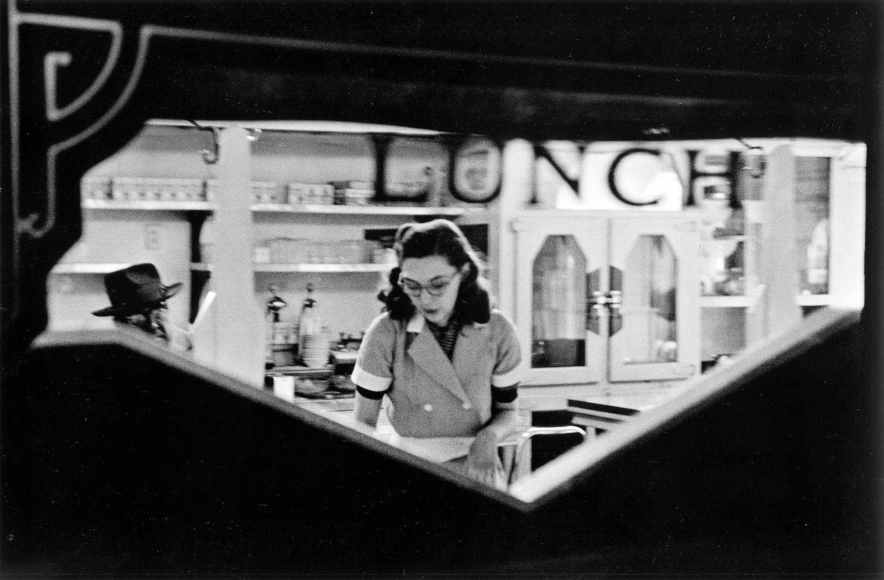 Frank Paulin - Lunch Counter, Chicago, 1952 Gelatin silver exhibition print mounted to board, printed c. 1952 | Bruce Silverstein Gallery