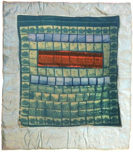 Keith Smith - Orange Grove Baby Quilt, 1970 | Bruce Silverstein Gallery