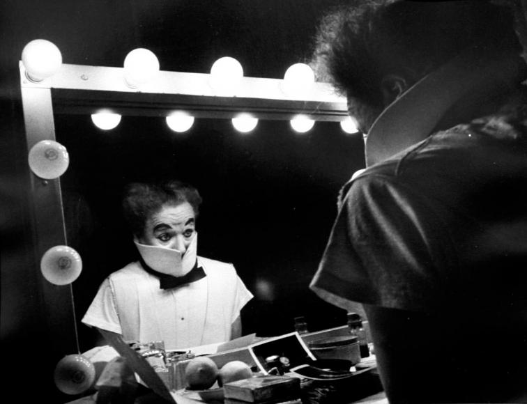 W. Eugene Smith - Charlie Chaplin, 1952  | Bruce Silverstein Gallery