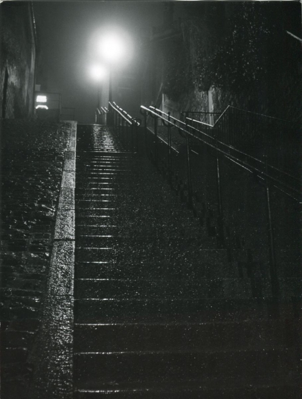 Robert DoisneauEscalier Nocturne, 1960 Gelatin silver print, printed c. 1960. 9 7/16 x 7 1/8 inches