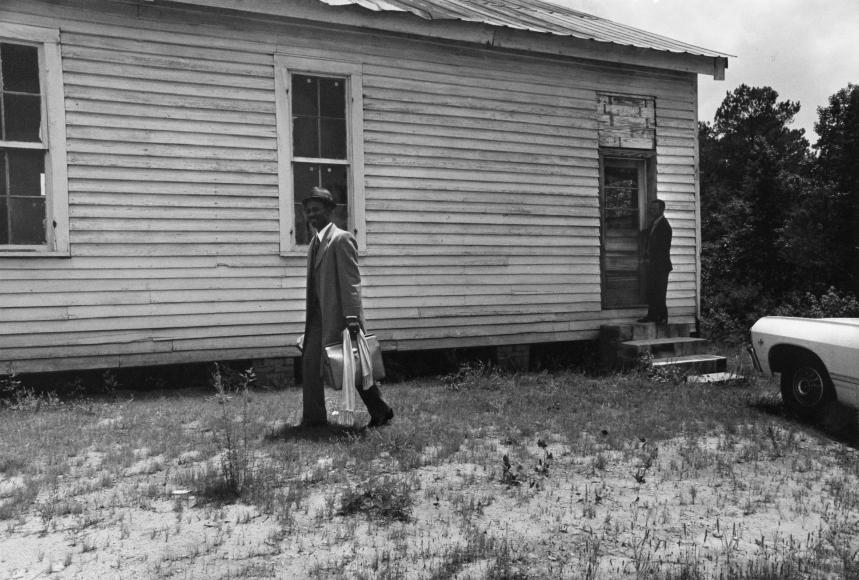 Chester Higgins -  Pastor at Church, Macon County, Alabama, 1973
