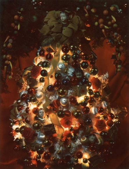 Christmas Tree, 1966 Polaroid. 5 1/2 x 4 1/4 inches
