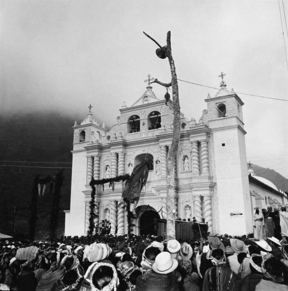 Passion Play, Zunil, Guatemala, 1979 	Gelatin silver print, printed c. 1986, 	19 3/4 x 15 7/8 in.