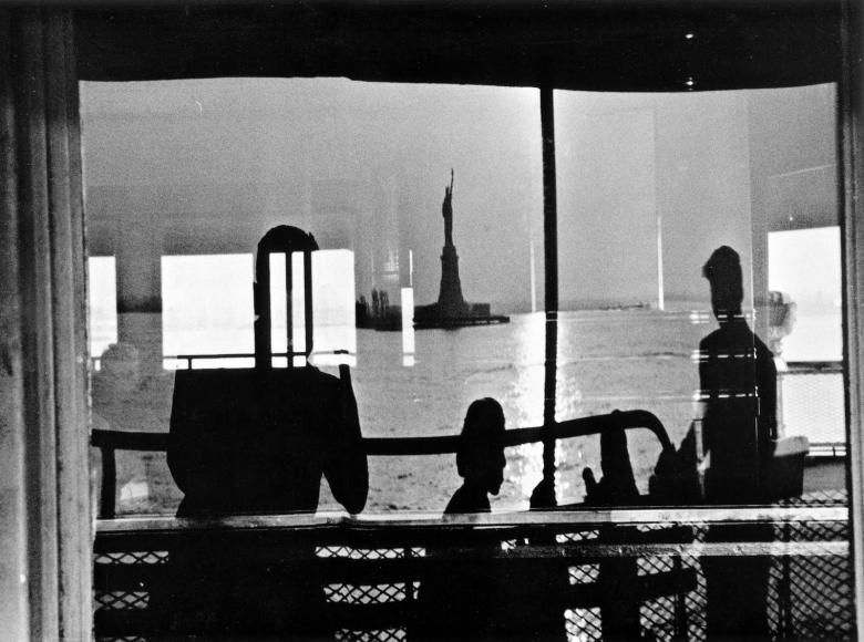 Frank Paulin - Staten Island Ferry, New York City, 1956 Gelatin silver exhibition print mounted to board, printed c. 1956 | Bruce Silverstein Gallery
